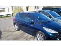 57 PLATE PEUGEOT 207SW 1.6HDI SPORT ESTATE £900 OR SWAP