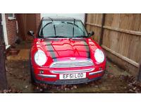 Mini Hatch, 59k miles, FSH, Long MOT no advisories, Red, Excellent condition, £1850 ONO