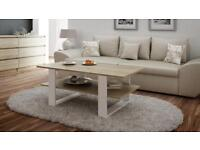 Coffee Table Wood New Unassembled