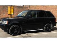 2008,Range Rover Spt,, Amazing Blck, 20in Stormer, Sat Nav, Park Sen, Bluetoo,Elec Leather, Ser Hist