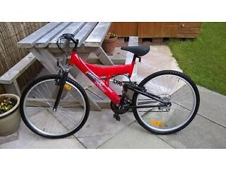 """26"""" Mountain Storm 21 gear full suspension mountain bike - hardly used."""