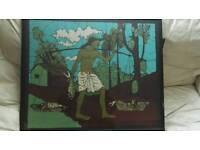 Framed batik pictures