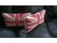 Laura Ashley Union Jack Cushions