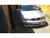 BMW CI 2.0 SP SILVER 87500 MILES MOT JUNE 2017.... 2003 PLATE