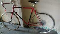 vintage Raleigh road bike frame and parts