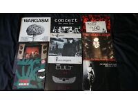 PUNK ROCK VINYL 9 LP'S LOT STRANGLERS EXPLOITED WARGASM KILLING JOKE DAMNED CURE CULT