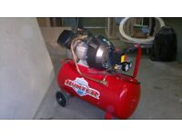 230 Volt, one phase, 50L Twin V Air Compressor
