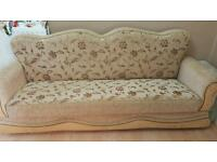 Two fabric sofas used in good condition