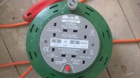 10m cable reel, extension lead almost brand new! bought in error!