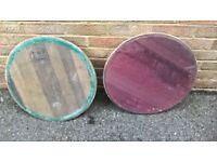 Oak Barrel Lids