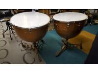 """25"""" and 28"""" Slingerland Timpani Kettle Drums. Delivery is possible"""