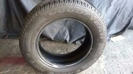 CAR TYRE 195/65/R15, 7-8mm depth. very good condition.