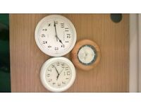 Cat clock and two other clocks