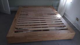 Ikea bed frame and head board