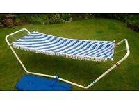 CAMP BED, SUN LOUNGER, SUN BED, FOLD UP PATIO HAMMOCK GARDEN RECLINER CAMP BED/FOLD UP SUN LOUNGER