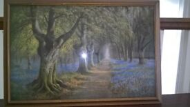 Framed painting.Print . Budding Spring by D. Sherrin. Bargain £20