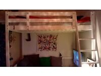IKEA Double Loft Bed and Mattress - Elevated Bed (see image)
