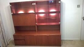 A Lovely Morris Of Glasgow Illuminated Teak Display Cabinet As Pictured.