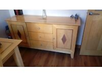 Dining table with 4 chairs & matching large sideboard