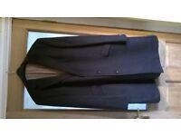 Mens 3/4 length dark grey crombie coat as new size 46R