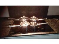 Jean Patrique stainless steel saucepans