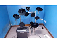 Electronic Drum Kit with Amplifier