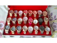 selection of ladies and gents wrist watches
