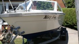 Morebas 17ft Fast Fisher style Boat\cruiser + Roller Coaster Trailer + 60hp Outboard Engine