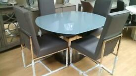 Furniture Village Flow Extending Dining Table and Four Chairs