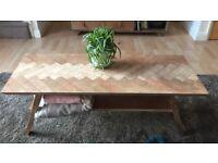 Artisan mid century coffee table