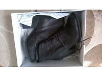 Women's size 6 Brand New Black Leather Ankle Boots from Aldo, Still in Box (£50) – Totterdown