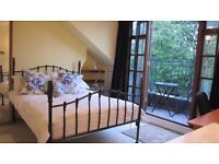 Garden Bedroom with private balcony - available 3 weeks