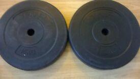 2x10kg weights
