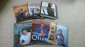 Jamie Oliver Books (5 Hardback, 1 Paperback) Great Condition