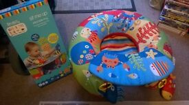 Baby inflatable sit up ring with tray as new