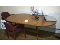 Expandable Dining Table with 4 chairs good condition