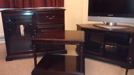 Dark Mahogany HiFi Unit, TV Unit and Coffee Table