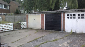 Lock up garage for sale in a block in the Knaphill area of Woking, Surrey