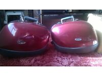 Triumph 955i Motorcycle Hard Panniers Claret Red
