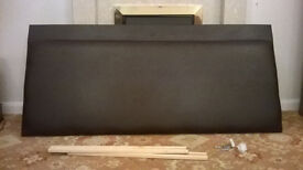 Pleather/PVC double bed headboard with fittings