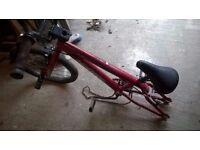 BMX Bike minus 1 wheel