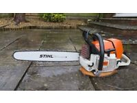 Stihl ms460 chainsaw, New engine, bar, chain and rim sprocket kit, see video!!