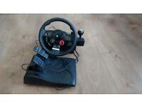Logitech Driving force wheel