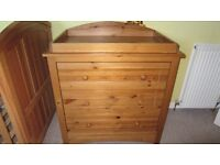 mothercare chest drawers with changing table- collection from Bearsden, Glasgow
