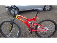 NEW GENTS DUEL SUSPENSION MOUNTAIN BIKE 26 IN WHEELS SUIT UP TO 6FT TALL