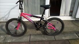 Pink and black BMX with rear stunt pegs - very good condition £20