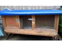 OUTDOOR CAGE (WITH ADDED WEATHER COVER) / GUINEA PIG - RABBIT ETC