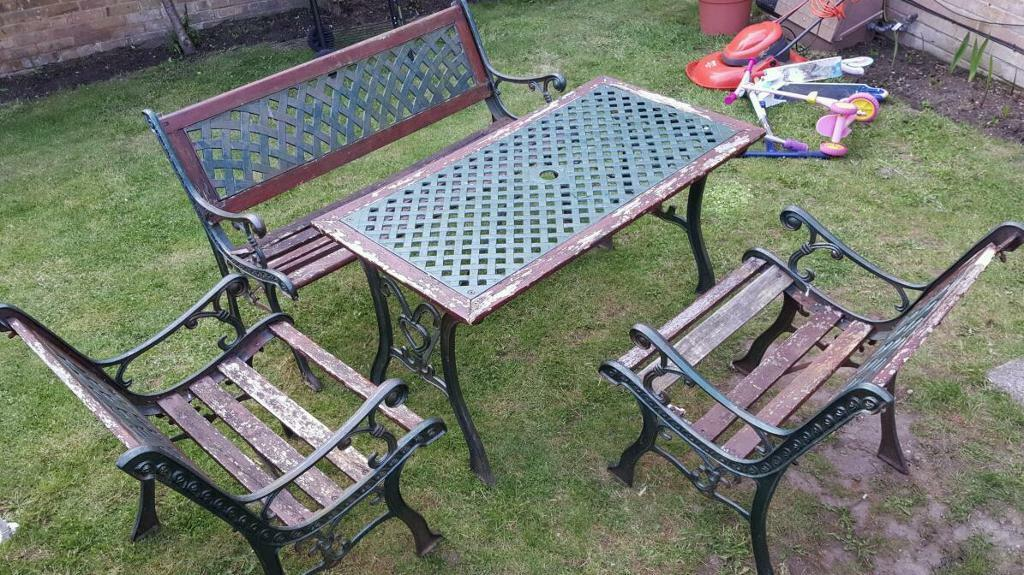 Restoring Cast Iron Garden Furniture Outdoor Furniture Tom 39 S Wood Shop With Occasionally