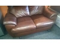 2 + 2 Brown Leather Suite, Great Condition!