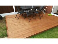 Patio decking ,made to your order,no waiting time